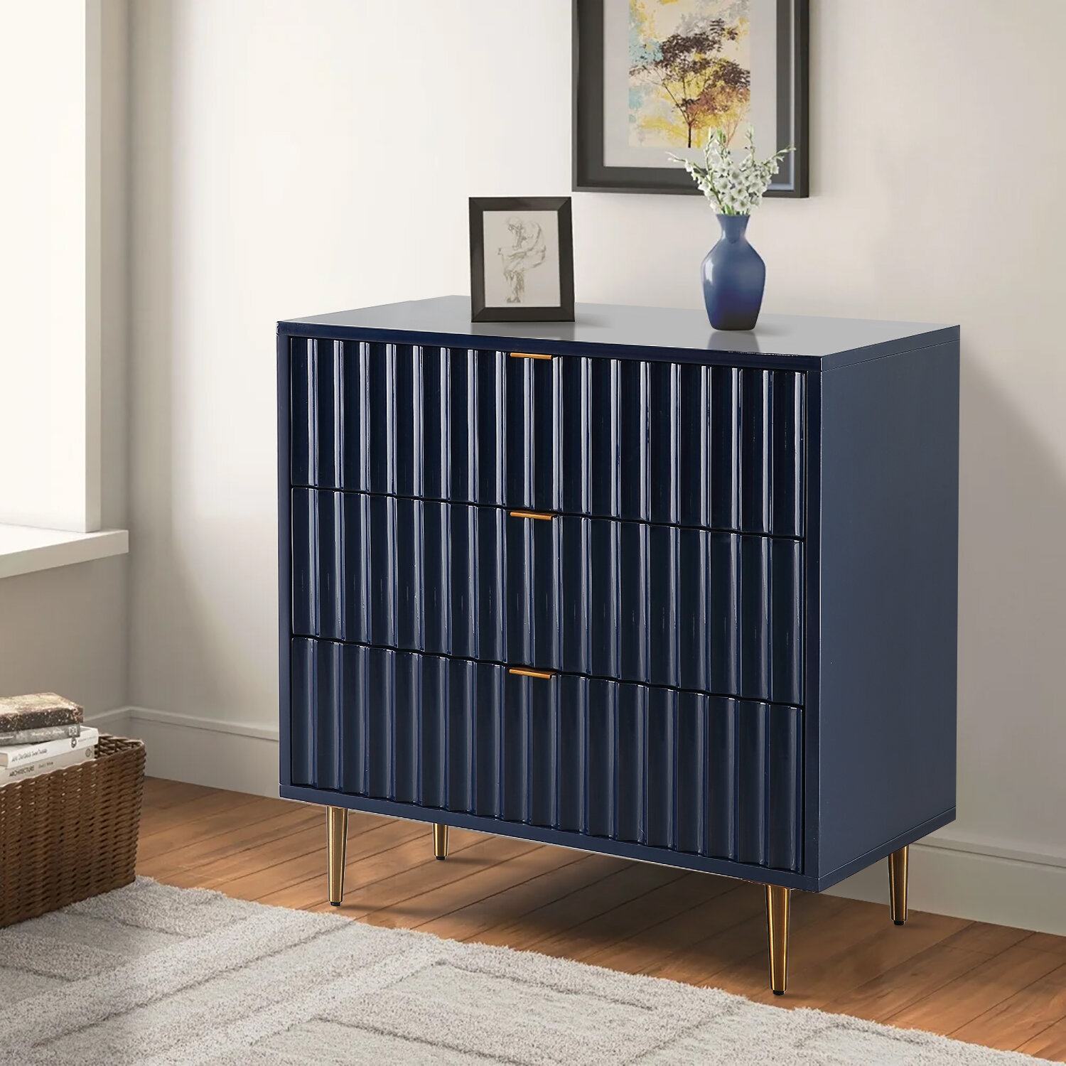 Vernon Solid Wood 20   Drawer Accent Chest