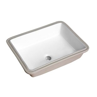 Read Reviews Dahlia Series Vitreous China Rectangular Undermount Bathroom Sink with Overflow By ANZZI