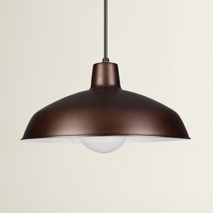 Mendelson 1-Light Dome Pendant by Turn on the Brights