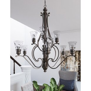 Darby Home Co Channel 10-Light Shaded Chandelier