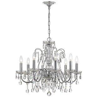 House of Hampton Benjamin 8-Light Candle Style Chandelier