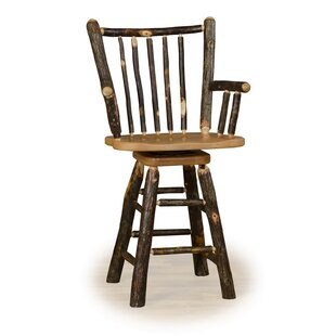 Tennessee 24 Swivel Stick Back Bar Stool With Arms Millwood Pines
