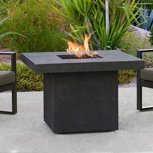 Real Flame Ventura Square Concrete Propane/Natural Gas Fire Pit Table