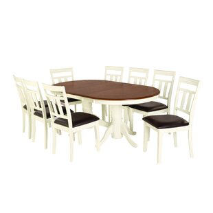 August Grove Bellino 9 Piece Drop Leaf Dining Set