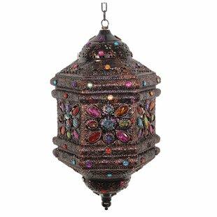 Metal/Glass Lantern by World Menagerie