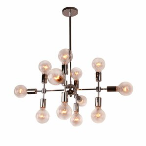 Modern Metal Geometric 12-Light Sputnik Chandelier  sc 1 st  AllModern & Modern and Contemporary Chandeliers | AllModern azcodes.com