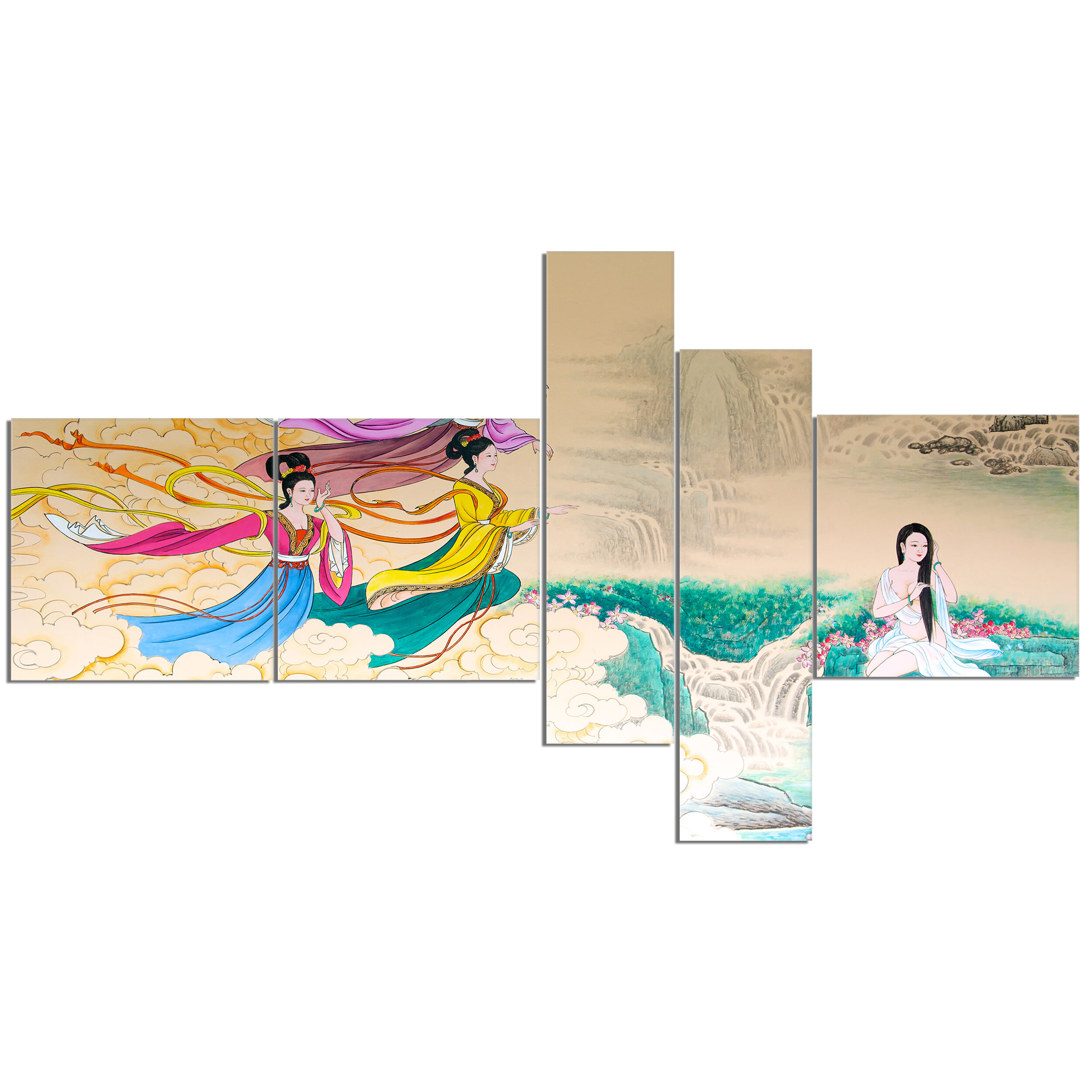 East Urban Home Classical Chinese Painting Graphic Art Print Multi Piece Image On Canvas Wayfair