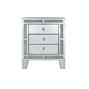Oswald 3 Drawer Bedside Table By Willa Arlo Interiors