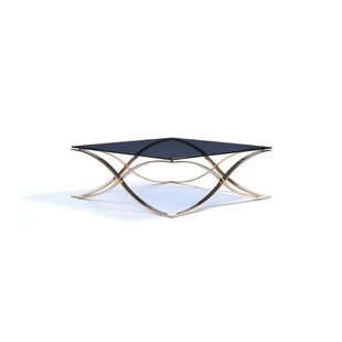 Everly Quinn West Brookfield Metal and Glass Coffee Table