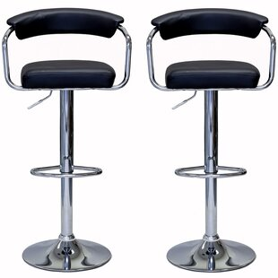 Shelor Adjustable Height Swivel Bar Stool (Set Of 2) by Brayden Studio Amazing