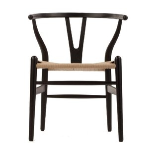 Delania Solid Wood Dining Chair Bungalow Rose
