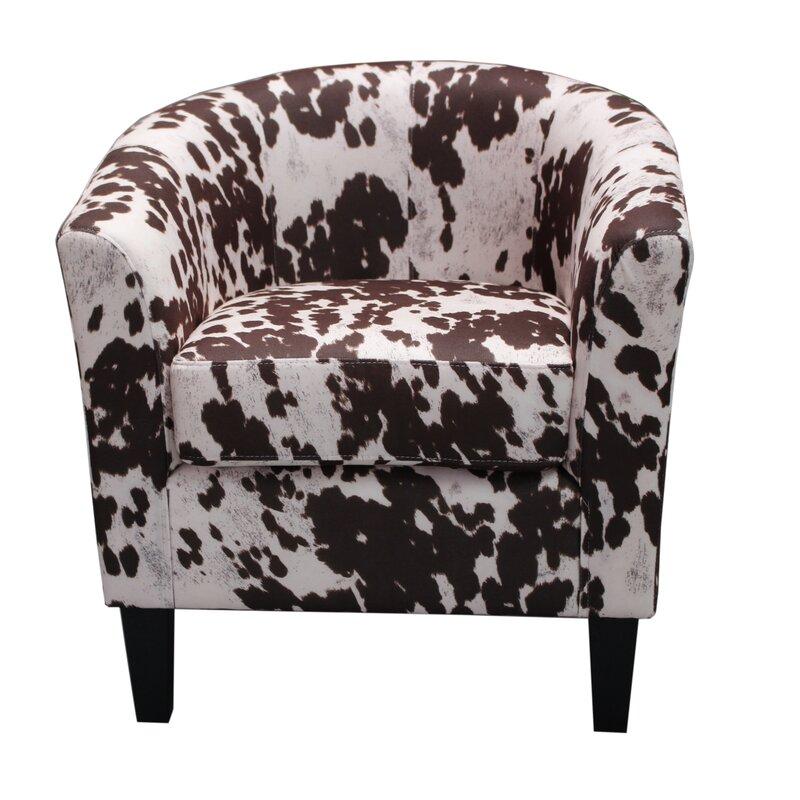 Lovely Cow Spot Print Barrel Chair