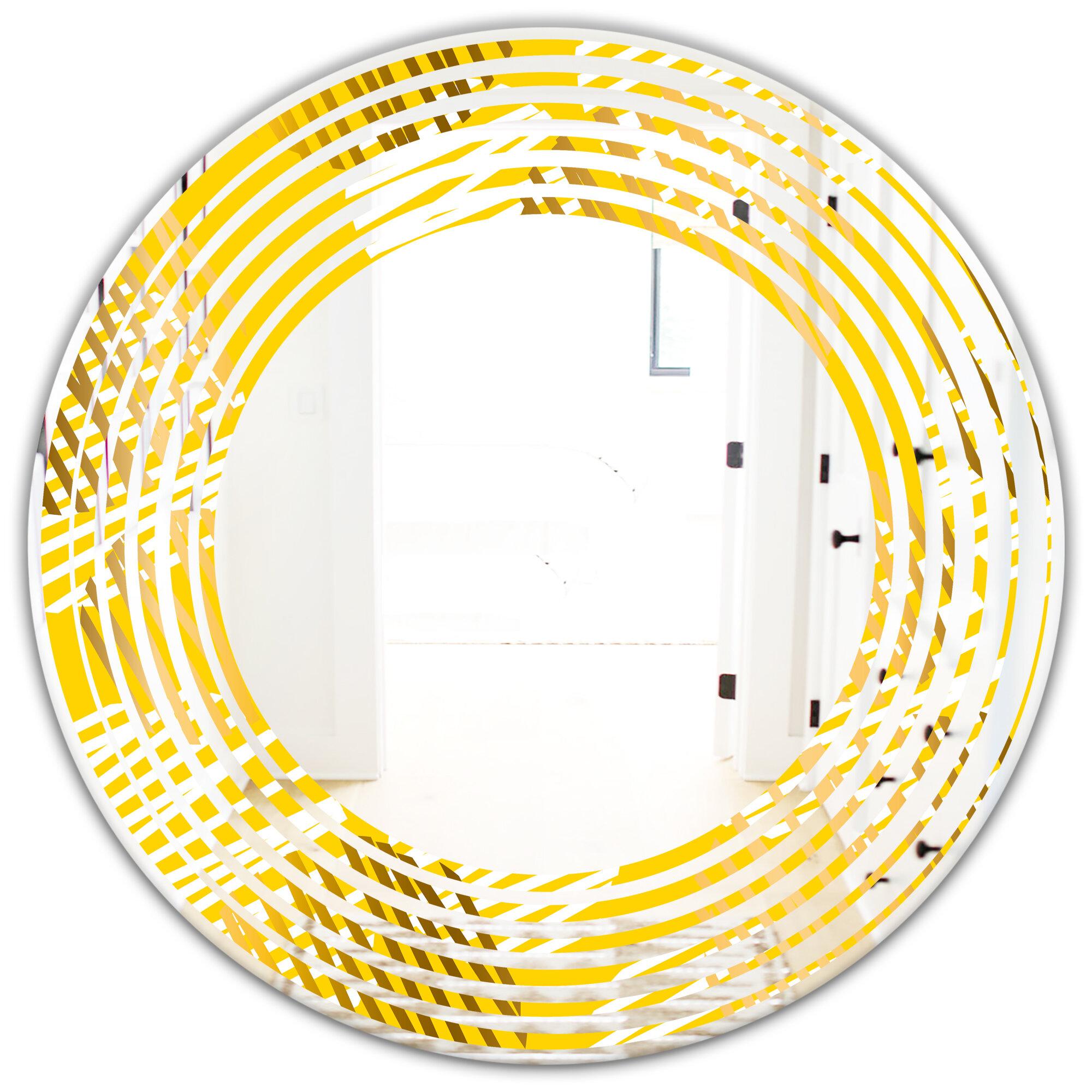 East Urban Home Wave Abstract Iv Modern Frameless Wall Mirror Wayfair