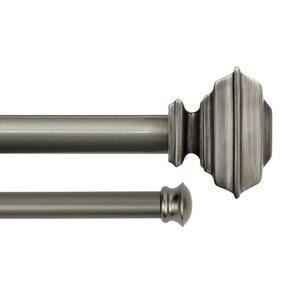 Charleston Square Drapery Double Curtain Rod and Hardware Set