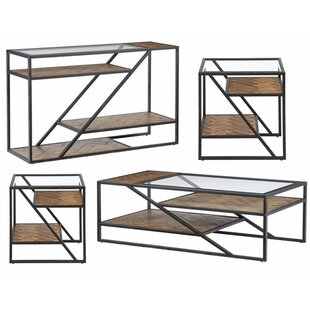 Kit 4 Piece Coffee Table Set