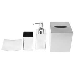 Reviews Nemesia 4-Piece Bathroom Accessory Set By Gedy by Nameeks