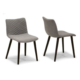 Top Reviews Upholstered Dining Chair (Set of 2) by Glamour Home Decor
