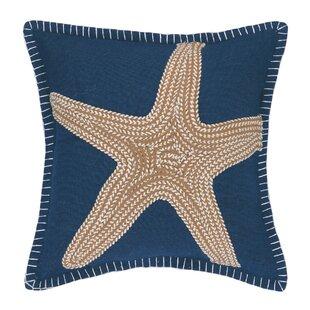 Nautical Embroidery Throw Pillow