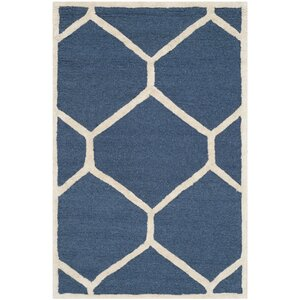Martins Navy Blue/Ivory Area Rug