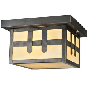 Meyda Tiffany Hyde Park Double Cross Mission 1-Light Flush Mount