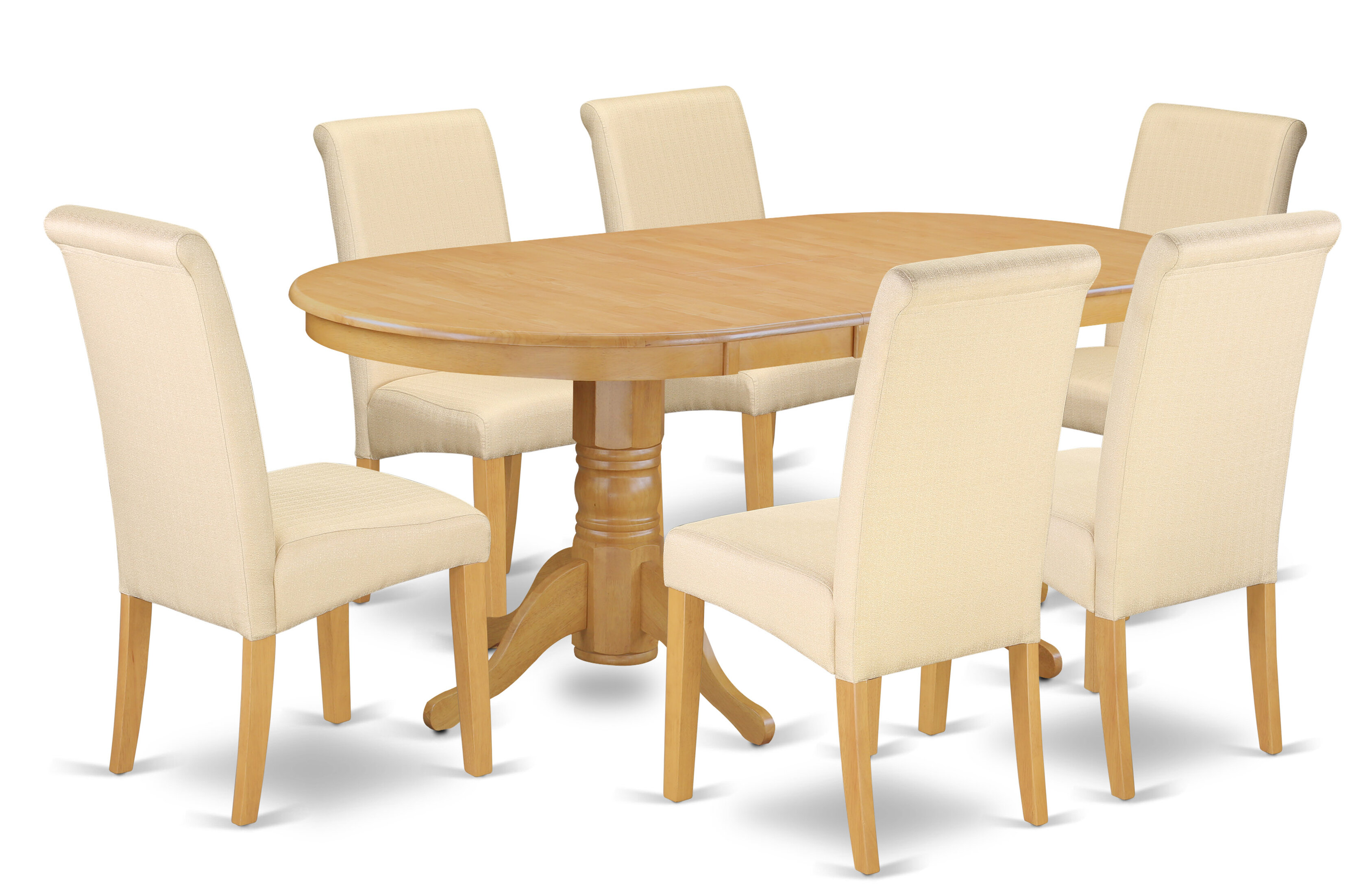 Paras Oval Room Table 7 Piece Extendable Solid Wood Dining Set