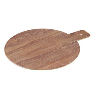 Burntwood Round Melamine Cheese Board & Platter with Handle (Set of 24)