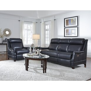 Warrendale Leather Reclining Configurable Living Room Set by Barcalounger