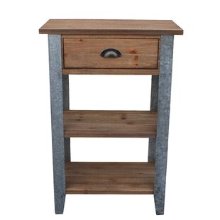Prieto End Table with Galvanized Legs by Gracie Oaks