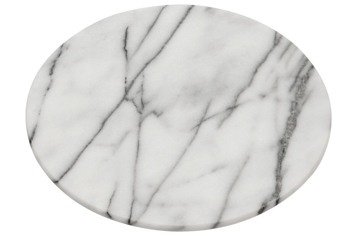 lazy susan in white marble