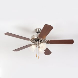 Bargain Bank 52 5-Blades Ceiling Fan By Charlton Home