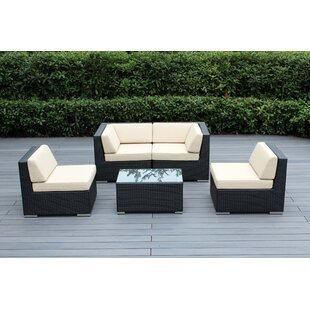 Baril 5 Piece Sofa Seating Group with Cushions
