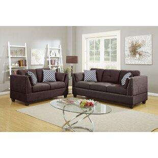 Geboe 2 Piece Velvet Living Room Set by Ebern Designs