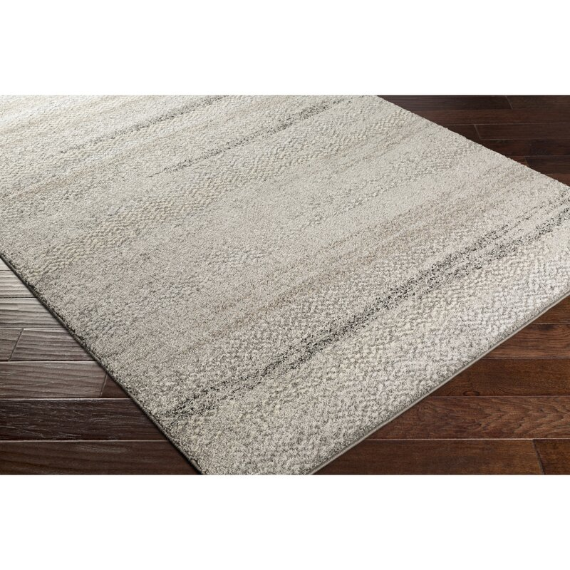 George Oliver Edmeston Gray Neutral Abstract Area Rug