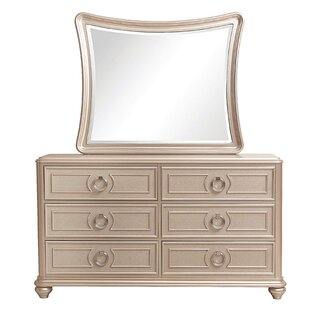 Willa Arlo Interiors Caozinha 6 Drawer Double Dresser with Mirror Image