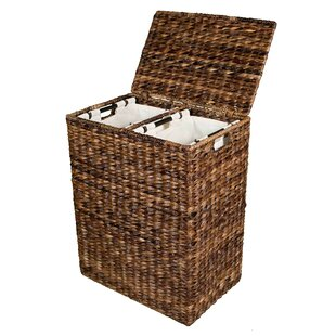 Compare prices Divided Wicker Laundry Sorter By Beachcrest Home