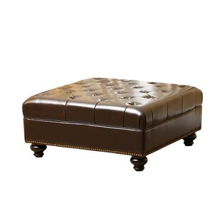 Darby Home Co Novak Leather Cocktail Ottoman