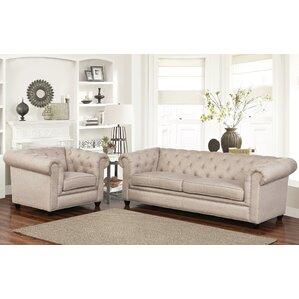 Breaux 2 Piece Living Room Set by One Allium..