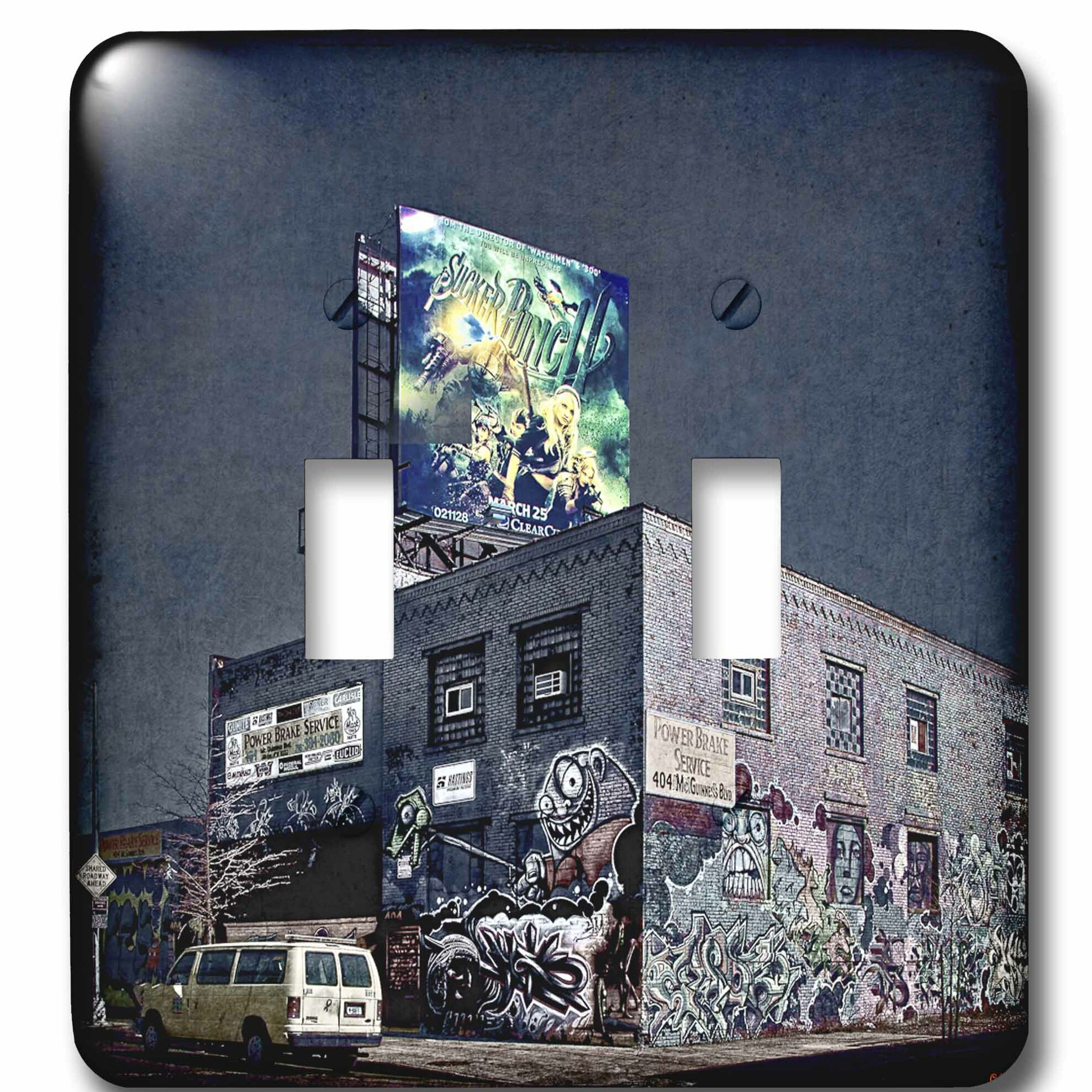 3drose Graffiti Brakes Store Grunge Street 2 Gang Toggle Light Switch Wall Plate Wayfair