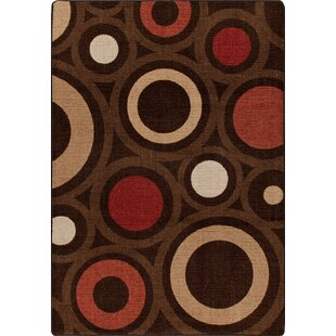 Mix and Mingle Chocolate in Focus Rug by Milliken