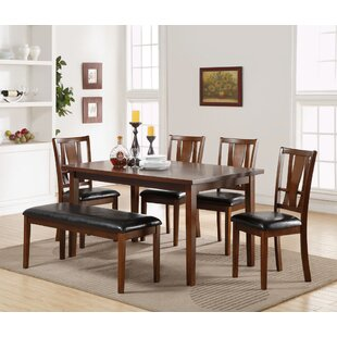 Hudson Square 6 Piece Solid Wood Dining Set Alcott Hill