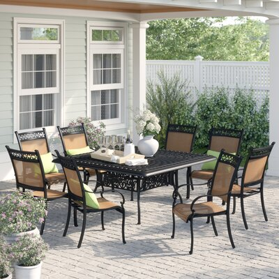 Curacao Traditional 9 Piece Dining Set by Sol 72 Outdoor Great Reviews