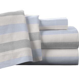 Pointehaven Savannah 100% Cotton Flannel Sheet Set