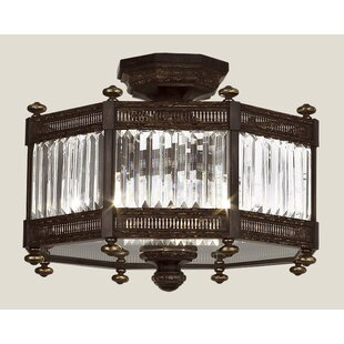 Eaton Place 3-Light Semi Flush Mount by Fine Art Lamps
