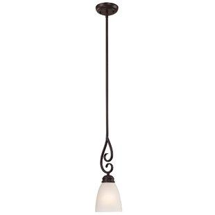 Sophia 1-Light Bell Pendant by Alcott Hill