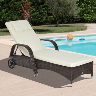 Abel Reclining Chaise Lounge with Cushion