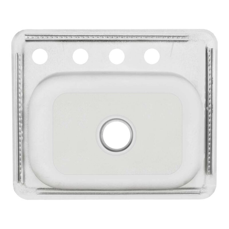 25   x 22   self rimming single basin kitchen sink lesscare 25   x 22   self rimming single basin kitchen sink      rh   wayfair com