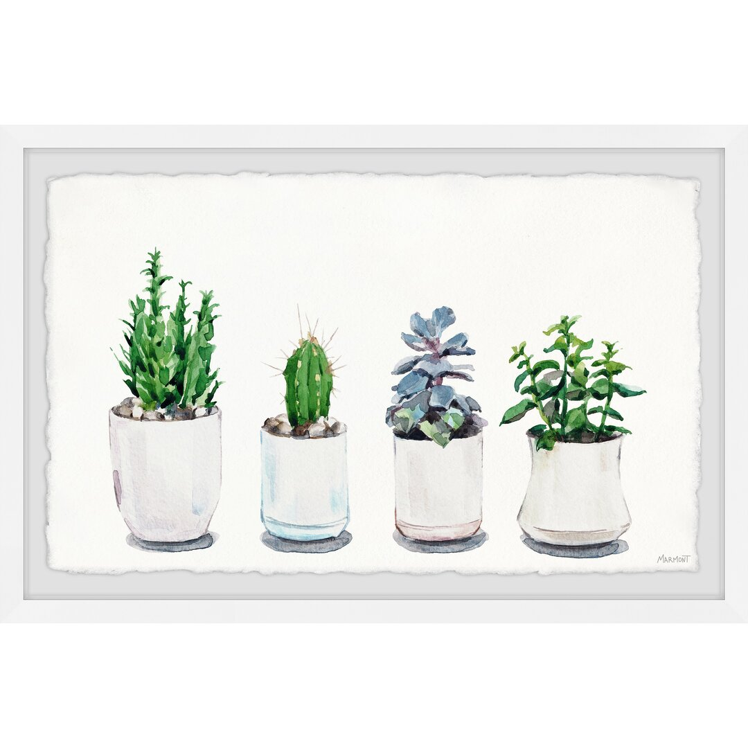 White Planters Framed Painting Print