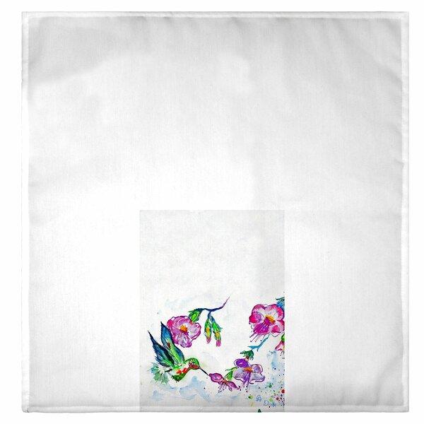 Fingertip//Hand Towel 16x25  Hummingbird//Flower
