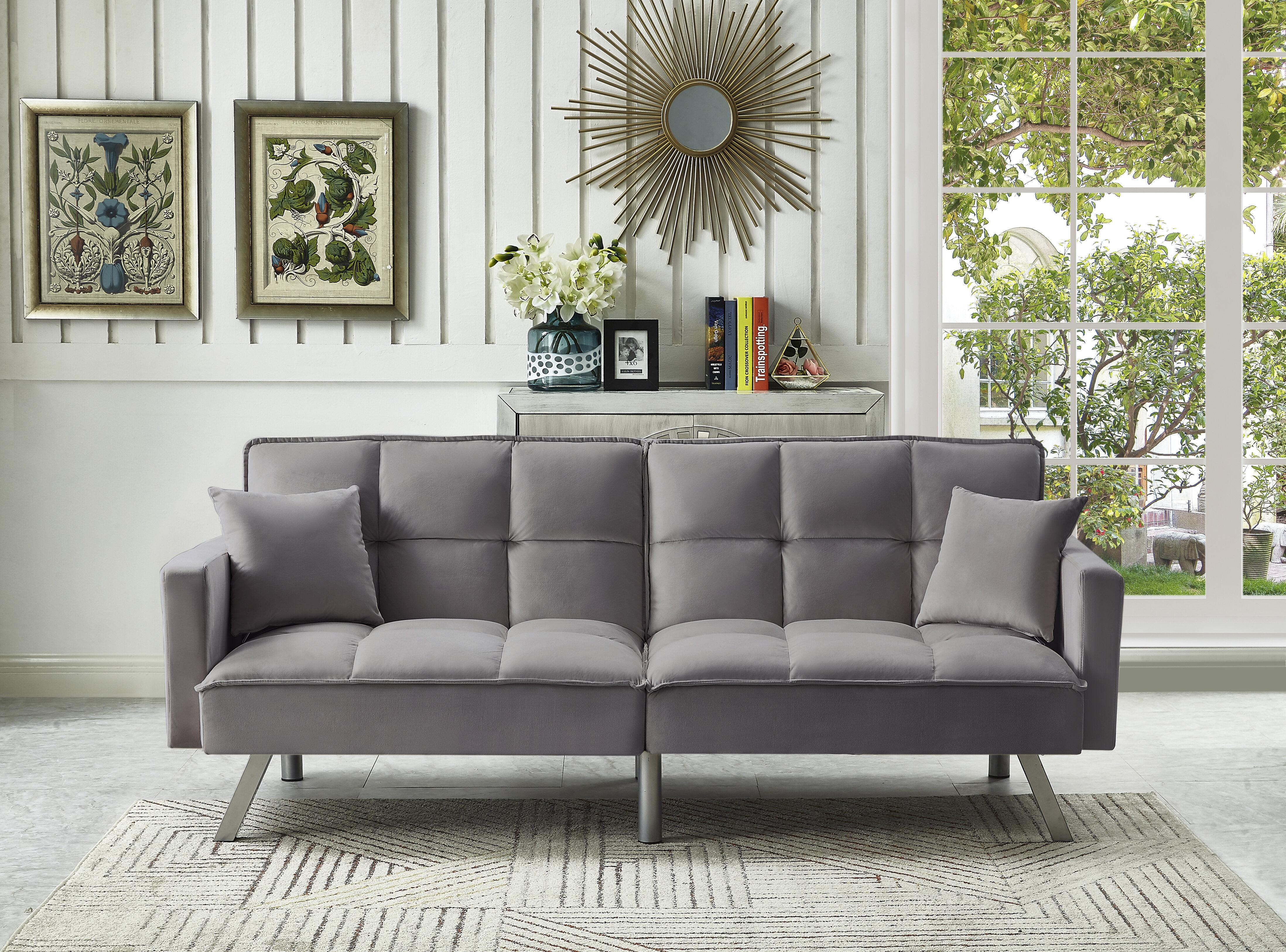 Mercer41 Brackin Twin Or Smaller Split Back Convertible Sofa Reviews Wayfair