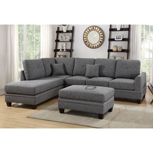 David Reversible Sectional with Ottoman by Alcott Hill